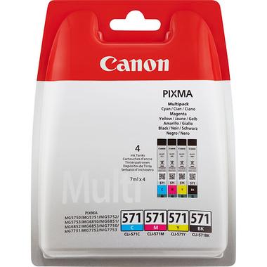 Canon CLI-571 Multipack Original Noir, Cyan, Magenta, Jaune 4 pièce(s)