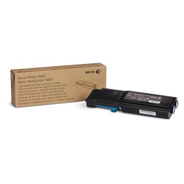 Xerox Cartouche de toner Cyan Phaser 6600/WorkCentre 6605 capacité standard (2 000 pages)