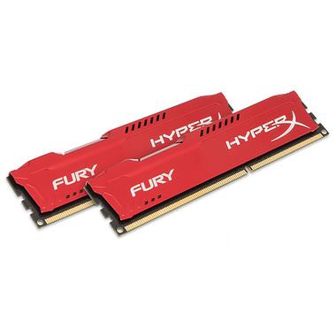HyperX FURY Red 8GB 1333MHz DDR3 module de mémoire 8 Go 2 x 4 Go