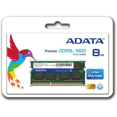 ADATA ADDS1600W8G11-S module de mémoire 8 Go 1 x 8 Go DDR3L 1600 MHz