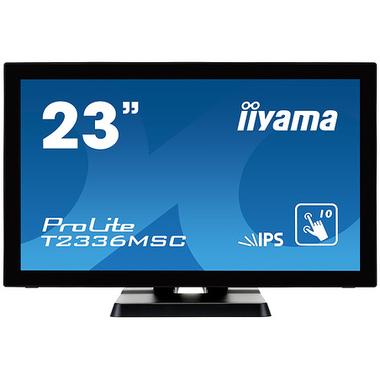 """iiyama ProLite T2336MSC-B2 moniteur à écran tactile 58,4 cm (23"""") 1920 x 1080 pixels Noir Plusieurs pressions"""