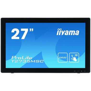 """iiyama ProLite T2735MSC-B2 moniteur à écran tactile 68,6 cm (27"""") 1920 x 1080 pixels Plusieurs pressions"""
