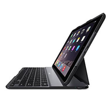 Belkin F5L192EDBLK clavier pour téléphones portables Aluminium, Noir