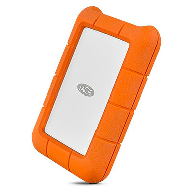 LaCie Rugged USB-C disque dur externe 1000 Go Orange, Argent
