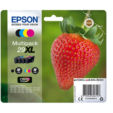 "Epson Strawberry Multipack ""Fraise"" 29XL - Encre Claria Home N,C,M,J"