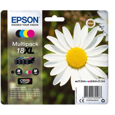 "Epson Daisy Multipack ""Pâquerette"" 18XL - Encre Claria Home N,C,M,J"