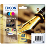 "Epson Pen and crossword Multipack ""Stylo à plume"" 16XL - Encre DURABrite Ultra N,C,M,J"