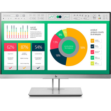 "HP EliteDisplay E223 21.5"" LED Full HD 5 ms Noir, Argent"