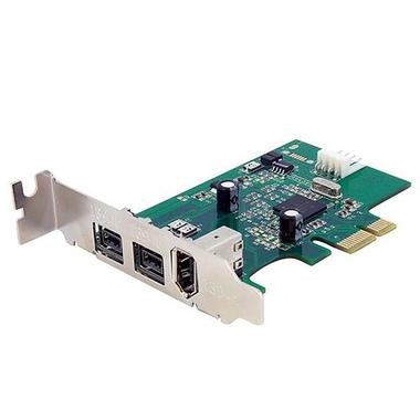 StarTech.com Carte Adaptateur PCI Express vers 3 Ports FireWire - Faible Encombrement - 800 et 400