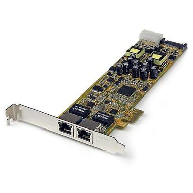 StarTech.com Carte Réseau PCI Express 2 ports Gigabit Ethernet RJ45 10/100/1000Mbps - POE/PSE