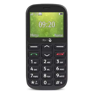 """Doro 1361 6,1 cm (2.4"""") 96 g Noir Téléphone numérique"""