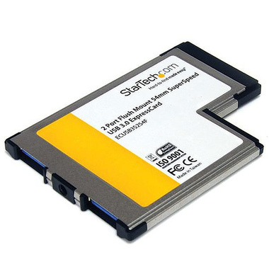StarTech.com Carte adaptateur ExpressCard/54 vers 2 ports USB 3.0 avec support UASP