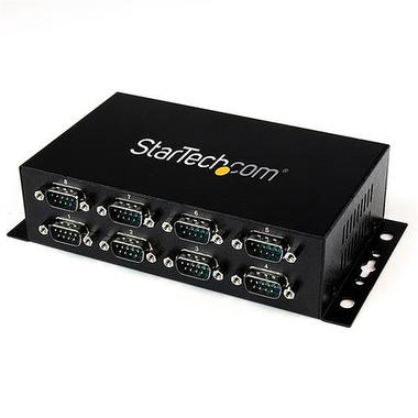 StarTech.com Hub Adaptateur USB vers 8 ports RS232 - Fixation Murale et Rail Din Industriel