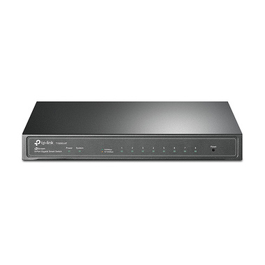 TP-LINK T1500G-8T(TL-SG2008) Géré L2/L3/L4 Gigabit Ethernet (10/100/1000) Noir Connexion Ethernet, supportant l'alimentation via
