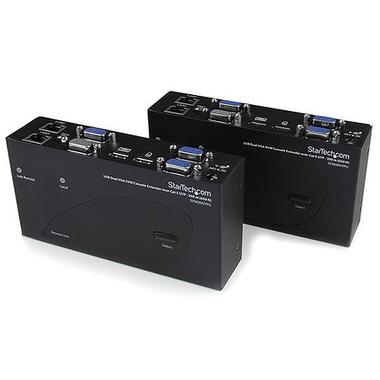 StarTech.com Switch Commutateur KVM USB VGA double 200m 2 x cable cat 5 - Extendeur de console