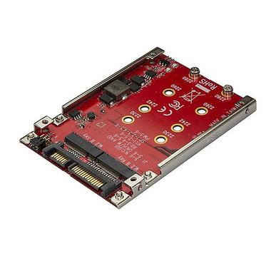 """StarTech.com Adaptateur pour deux disques SSD M.2 vers SATA dans baie de 2,5"""" - RAID"""